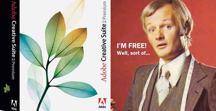 Adobe say that the CS2 suite wasn't meant to be free after all!