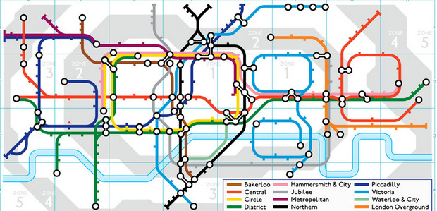 Google celebrates the 150th birthday of London Underground with a tube doodle