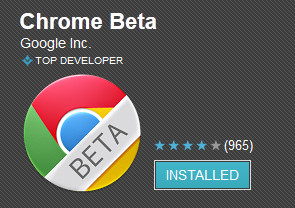 Chrome Beta for Android serves up the latest browser features