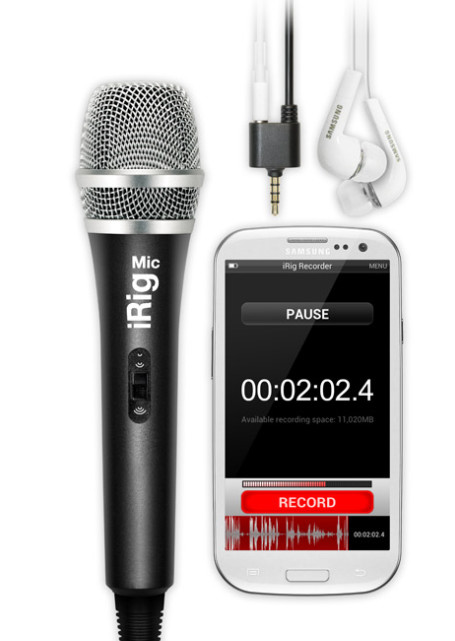 Audio iRig Recorder app brings high quality sound recording to the Android platform