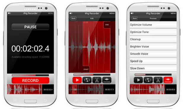 Audio iRig Recorder app brings high quality sound recording to Android platform