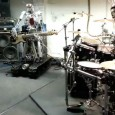 Billed as a 'sneak preview of Compressorhead during band practise at the Robocross head quarters in Berlin,' this fantastic video shows three robots thundering away on top of Motorhead's killer version...