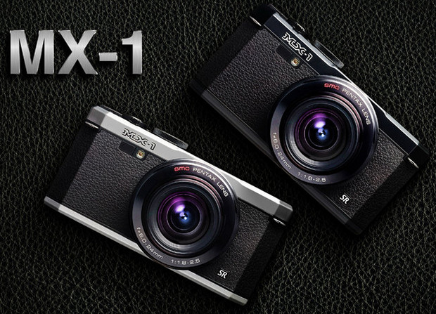 Pentax MX-1 compact enthusiast camera packs fast lens, 4x zoom and brass top plate controls