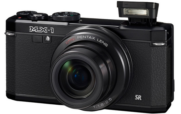 Pentax MX-1 compact enthusiast camera packs fast lens, 4x zoom and brass covers