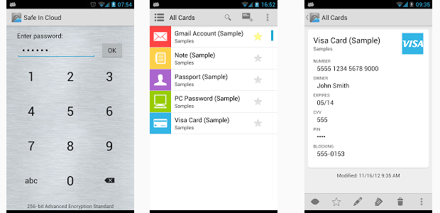 Safe In Cloud: finally a password manager that actually works. Goodbye SplashID