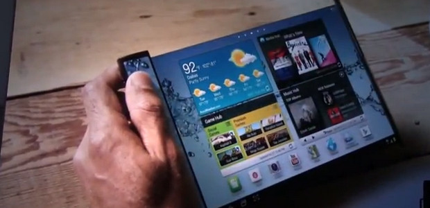 Samsung's amazing Youm flexible display technology shown off in on video