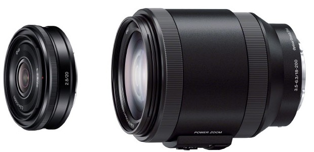 Sony 20mm pancake and 18-200mm power zoom to adds Sony grows E-mount lens range