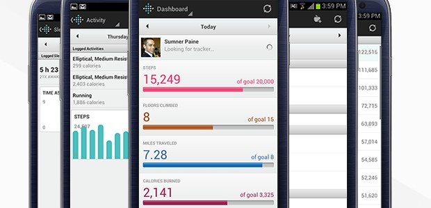 Fitbit activity tracker app syncs with Android Bluetooth 4.0 devices