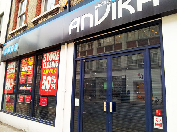 Micro Anvika joins the vanished electronics shops of Tottenham Court Road, London