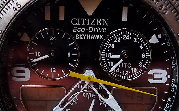 Review - CITIZEN JR3060-59F Men's Skyhawk Titanium Eco-Drive Flight Chronograph Watch