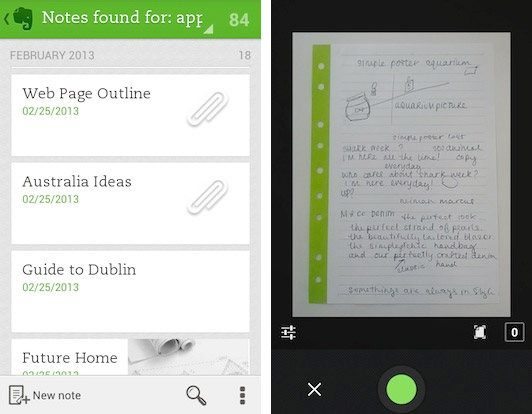 Evernote moves up to version 5 on Android, video shows off new features and practical issues