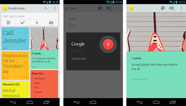 Google Keep note-taking web and Android app takes on Evernote
