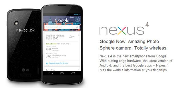 Google Nexus 4 bargain-priced powerhouse smartphone back in stock in UK