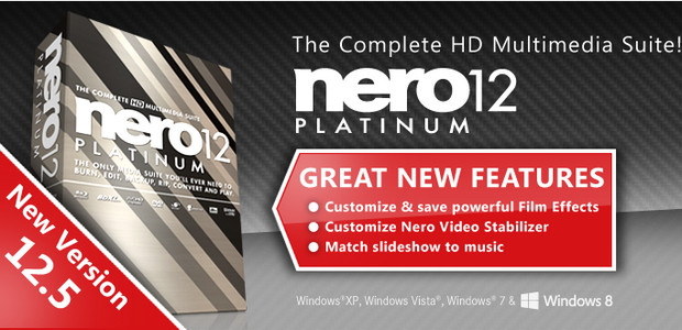 Feature-packed Nero 12.5 Multimedia Suite released, free update to v12 users