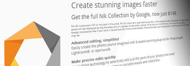 Google offers entire Nik photo editing software suite for bargain price of $149/£98