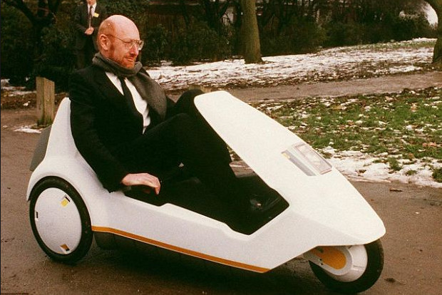 Sinclair C5 pedal powered trike voted the biggest gadget disaster ever