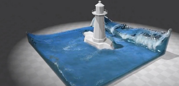 Stunning 3D video graphics technology makes water look real