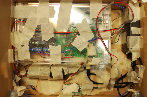 Hidden camera records the path of a package using an Arduino powered camera