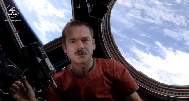 New Space Oddity video rerecorded on board the International Space Station