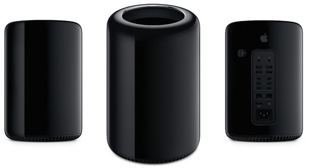 Is it a trash can? Is it black kitchen roll? No, it's Apple's new Mac Pro