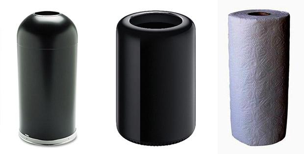 Is it a trash can? Is it black kitchen roll? No, it's Apple's new Mac Pro