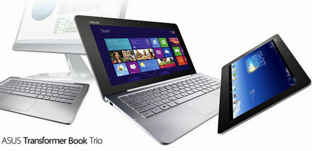 ASUS Transformer Book Trio laptop runs Android *and* Windows