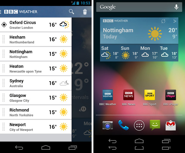 BBC launches free weather app for Android and it's jolly good one too