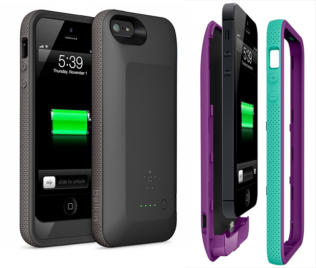 Belkin's Grip Power battery case promises to double iPhone 5 battery life