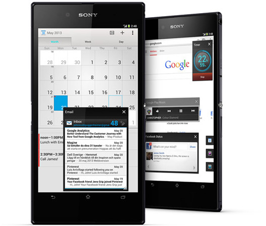 Sony Xperia Z Ultra packs massive 6.3″ screen and novel Bluetooth accessory