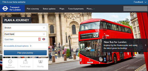 New Transport for London website - beta version released