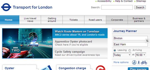 New Transport for London website - beta version released