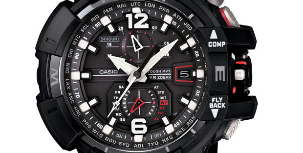 Casio G Shock Premium aviator watch