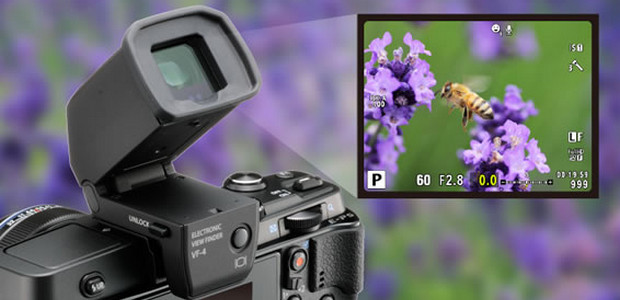 Olympus VF4 electronic viewfinder improves on OM-D EVF with 2.36m pixels