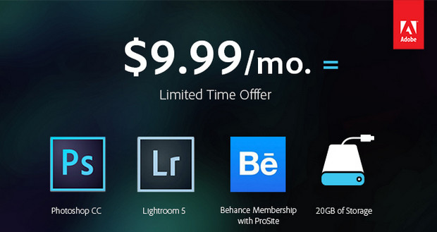 Adobe offers Photoshop Photography deal with Photoshop and Lightroom for $9.99/month