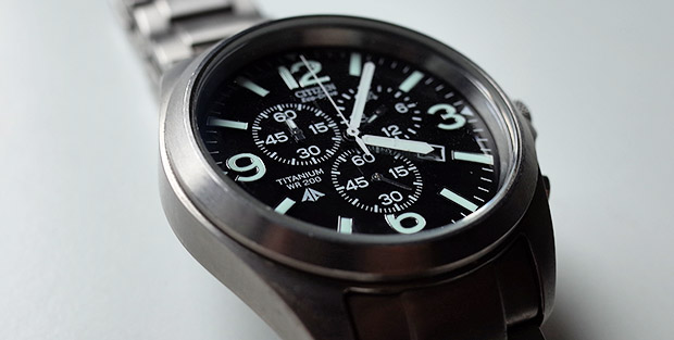 Review - Citizen Promaster Eco-Drive Titanium Chronograph watch AT0660-64E