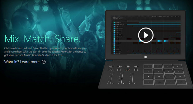 Microsoft unveils Surface Music Cover for laptop DJs