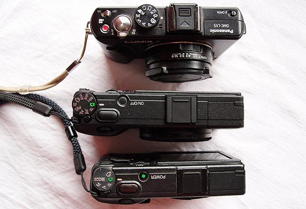 Ricoh GR vs Ricoh GRD vs Lumix LX5 - photo size comparison