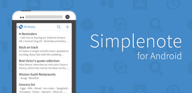 Simplenote note-taking app finally comes to Android