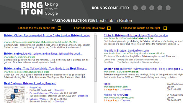Bing versus Google - try this blind test to see which is the best search engine for you
