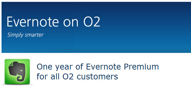 O2 dishes out a year's free subscription to Evernote Premium to customers
