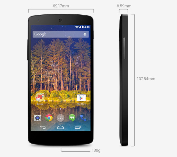 Google LG Nexus 5 announced and it's available from November 1st