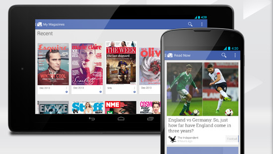 Google blends Currents and Magazines into a new, all purpose Newsstand app