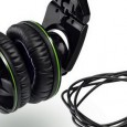 Billed as 'advanced DJ headphones,' the £70 Hercules HDP DJ-Adv G501 headphones are a chunky looking affair, sporting a distinctive black and green glossy exterior.