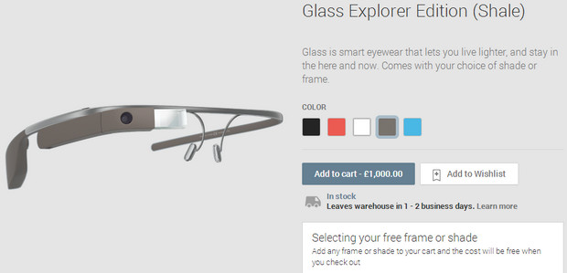 Google Glass now available for well heeled visioneers in the UK