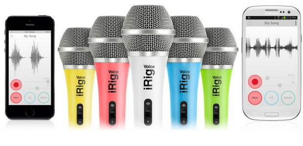 IK Multimedia launches iRig Voice microphones with a dash of colour