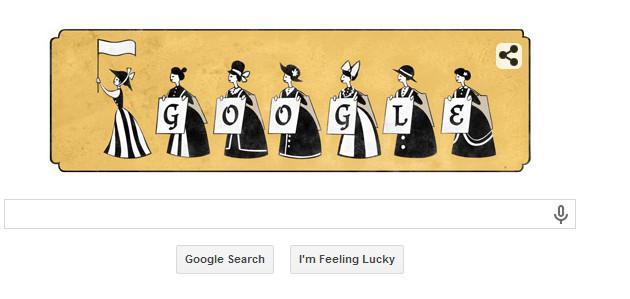 Google doodle celebrates Emmeline Pankhurst, suffragette leader