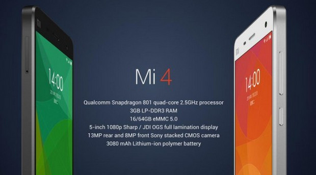 Xiaomi unveils Mi 4 flagship Android phone packing Snapdragon 801 and 5-inch FHD display for $320