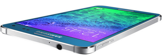 Samsung's metal framed Galaxy Alpha smartphone looks fabulous