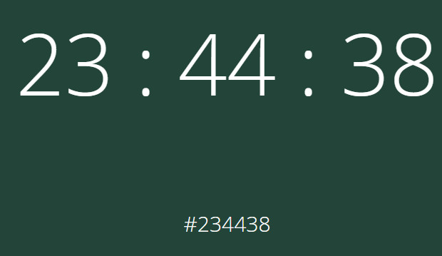 Pointless but wonderful: an ever-changing hex colour clock