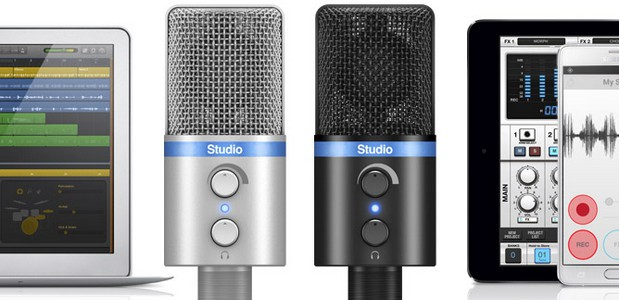 IK Multimedia has unveiled its newiRig Mic Studio,an 'ultra-portable' large-diaphragm digital condenser microphone for iPhone, iPad, iPod touch, Mac, PC and Android devices.